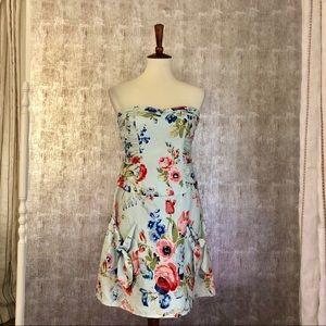 Nanette Lenore Floral Strapless Dress